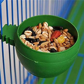 Balacoo 20 pièces Abreuvoir Mangeoires Alimentateur à Oiseaux en Plastique Bol Tasse Alimentaire Nourriture pour Petit Oiseau Perroquet Pigeon