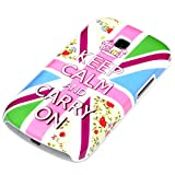 deinPhone Keep Calm And Carry On - Carcasa para Samsung Galaxy S Trend Duos, multicolor