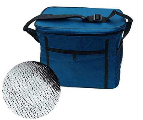 junsi portable Voyage sac imperméable doublure sac de repas Sac glacière isotherme Sac pique-nique 27 * * * * * * * * 17 * * * * * * * * 14 cm, bleu, Universally
