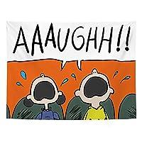 YuanSu 漫画のキャラクター絵画タペストリー壁画ホワイトウサギ海峡漫画タペストリーカラフルな北欧スタイル37.4 * 28.7インチ 壁のタペストリー (Color : 3)