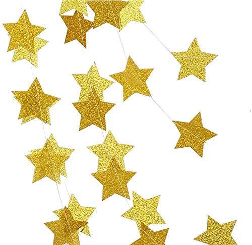 Stelle Ghirlanda Stelle di Carta da Appendere Bandierine Banner Carta per Feste Kit Decorazione Feste per Compleanno Anniversario Matrimonio