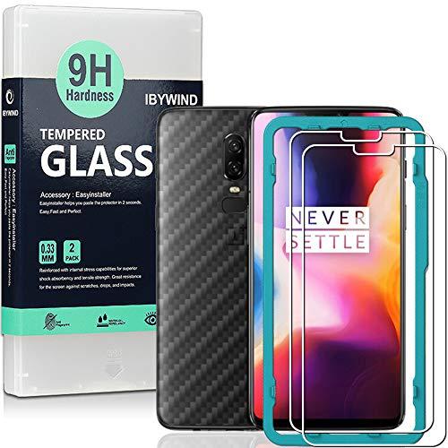 Ibywind Panzerglasfolie für OnePlus 6 (2 Stück) -9H Panzerglas Folie, HD Bildschirmschutzfolie, Tempered Glas Schutzglas, Handy Hartglas Schutzfolie mit Applikator für die Installation