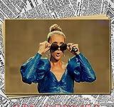 MXIBUN Musiksängerin Celine Dion Poster Kraftpapier Poster