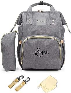 PERSONALIZED Large Diaper Bag Knapsack Custom Monogram Backpack