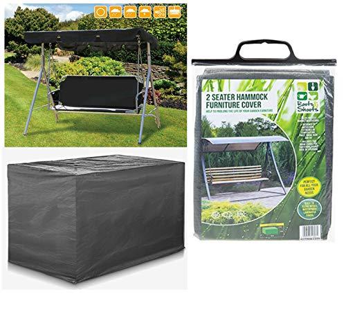 Heavy Duty Waterproof 2 Seater Swinging Garden Hammock Cover In Dark Grey