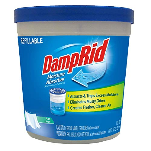 Great Features Of DAMPRID Pure Linen Refillable Absorber | 10.5 Oz. Tub Effectively Attracts and Rem...
