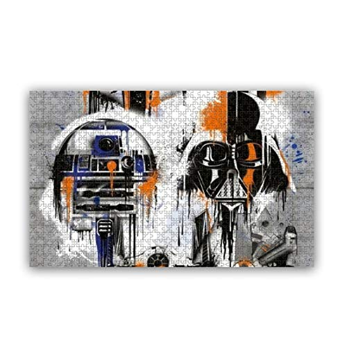 Cute Doormat Star Wars Rompecabezas para adultos 1000 piezas Skyline Puzzles para niños y adultos, rompecabezas educativos para niños y adultos