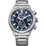 Citizen Men's Brycen Eco-Drive Technology Watch with Stainless Steel Strap, Silver, 22 (Model: CA0731-82L)