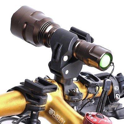 Bicycle Front Light Lamp Mount Holder Universal Bike Light Clamp Bracket...
