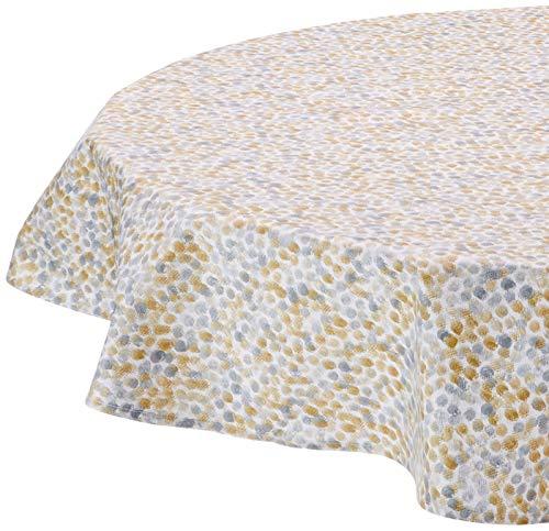 Nydel EU569086413 tafelkleed parel, acrylcoating, rond, 160 cm, grijs