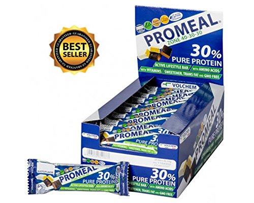 PROMEAL ZONE 40-30-30 - Volchem - BARRETTA PROTEICHE PER DIETA A ZONA - 24 barrette da 50gr GUSTO - CEREALI - (PHARMAGOLI NUTRITION)
