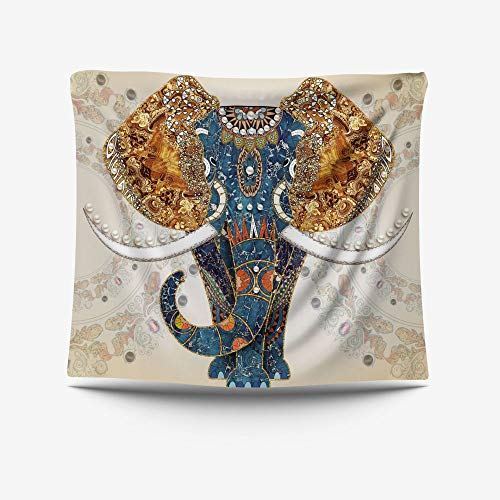 LZYMLG Animal Series Elephant Pavo Real Tapiz de fondo de tela de cabecera de dormitorio, sala de estar, estudio, sala de reuniones, hotel, dormitorio, apartamento decorativo de pared Gt20021