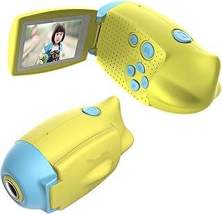 XLST Cámara para Niños Video Cámara Infantil con Pantalla De 2 Pulgadas HD 1200 MP/1080P Doble Objetivo A Prueba De Golpes Adecuado para Juguetes para Niños Mayores De Un AñoAzul