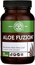 Global Healing Center Aloe Fuzion Bio-Active Aloe Vera Leaf Supplement | 200x Concentrate Formula Made from Organic Aloe with Highest Concentration of Acemannen | Aloin-Free | 60 Capsules
