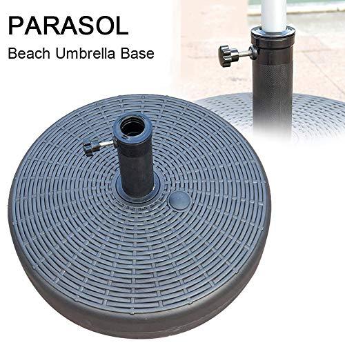 Beach Umbrella Base Outdoor Garden Umbrella Stand Heavy Duty Round Water Filled Umbrella Base Weather Resistant Parasol Base For 30-48mm Rod Outdoor Patio Garden Beach