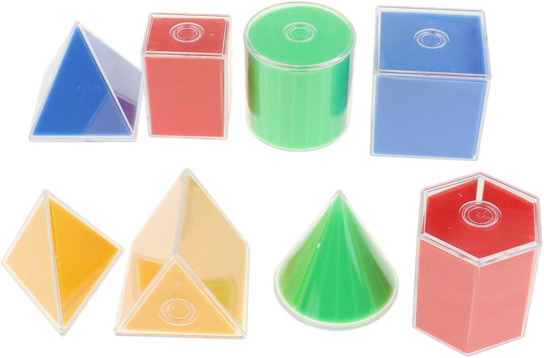 F Fityle Fityle Fityle 8stk. Geometrische Formen Ausbildung Spielzeug Montessori Material für Grundschule Kindergarten und Haus B07N41JTH9  | Elegante und robuste Verpackung  852642