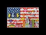 Stick It On Your Wall James Rizzi–Amerika Flagge Mini