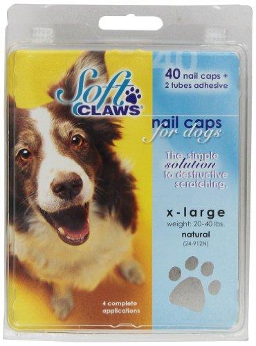 Soft Claws Inc Capuchons à Ongles Griffes Chien Souple Prendre Home Kit, XL, Naturel