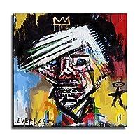 Untitle- ジャン・ミシェル・バスキアポスター、グラフィティアールヌーボーアートパネル絵画フォトフレーム印刷ダンフレーム印象派ヨーロッパ壁壁紙壁画美術-72 (60x60cm,ポスター)