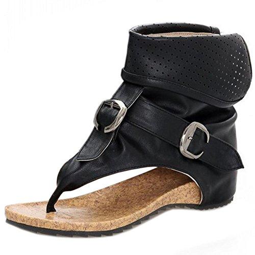 Zanpa Donna Classico Infradito Sandali Gladiator Estate Scarpe Black Dimensione 36