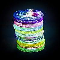 Charmante Blinkendes Armband - Die Leuchtarmbänder haben schnellen & langsamen Blitz. Jedes Knicklichter wird mehrere Farben blinken. ein-/Ausschalter gesteuert durch sich selbst, In einer dunklen Umgebung mit einem Leuchtstick werden Sie eine sehr c...