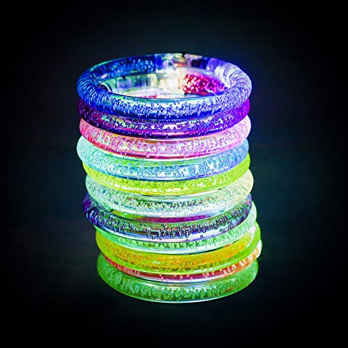 Nasharia Armband Set Knicklichter Leuchtstab Glowstick Leuchtstick Leuchtarmbänder, Blinkend Armreif Blinkleucht Armbänder für Kinder Geburtstag Party Disco Hallowen Weihnachten, 6 Farbe, 12er