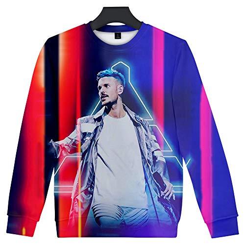 De.Pommeyeux M. Pokora Sweat streetwear tendance avec impression 3D - - XXXL