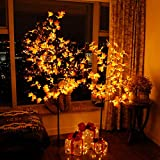 CCLIFE LED Ahorn Baum 150 180 cm innen Außen Weihnachten Christbaum Lichterbaum warmweiss Kaltweiß Weihnachtsbeleuchtung, Farbe:180cm mit 160 LEDs