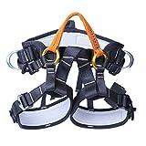WILDKEN Arnés de Seguridad de Escalada para Hombre Mujer Alpinismo Cuerda Equipo Escalada Ajustable Al Aire Libre Rappel Cinturón Seguridad de Rescate (Medio B)