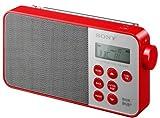 Sony XDR-S40DBPR - Ultra Compact Digital Radio con Dab/Dab+/FM, Color Rojo