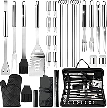 SAUCE ZHAN 31-Pieces Stainless Steel Barbecue Grilling Tools Kit