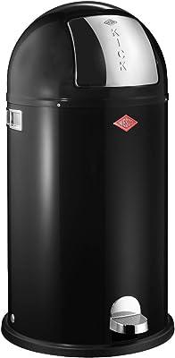 WESCO (ウェスコ) プッシュペダルビン&メタルライナー40L KICKBOY ブラック サイズ:∅40×H75.5cm 177731-62