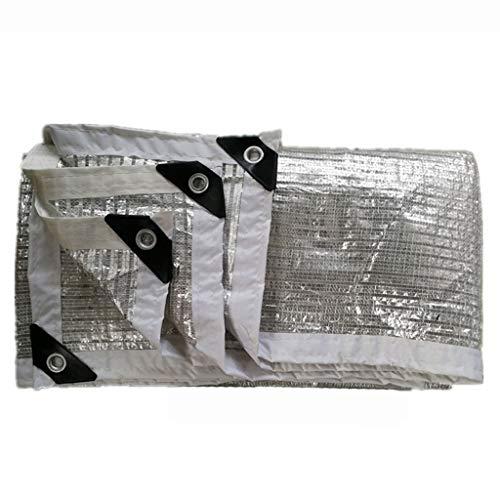Pantalla de tela de aluminio blanco de la lámina de protección solar de aislamiento de la red del techo al aire libre del jardín parasol de red de protección solar, 4*7