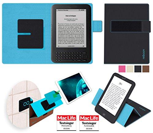 Hülle für Amazon Kindle Keyboard 3G Tasche Cover Hülle Bumper   in Schwarz   Testsieger