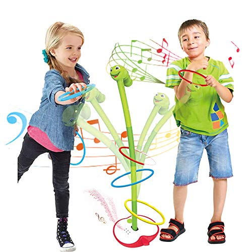 Kids Toys Ring Toss Throwing Game Set with Music ,Outdoor & Indoor Toys for Boys and Girls,Gift for 5 Year Old Boys