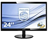 Philips Monitor 246V5LDSB Gaming Monitor 24' LED Full HD, 1920 x 1080, 250 cd/m², 1 ms, HDMI, DVI, VGA, Attacco VESA, Nero