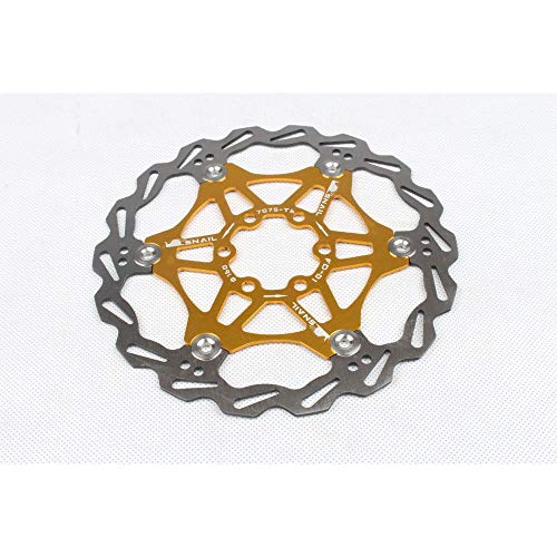 SZMYLED Mountain Bikes Rotors Floating Disc Brake Rotors 160MM/180MM/203MM Bike Brake Disc Rotor MTB Stainless Steel with Screws Golden 160MM boxed