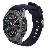 iBazal 22mm Correa Silicona Pulseras Bandas Compatible con Samsung Galaxy Watch 46mm,Gear S3 Frontier Classic,Huawei GT/2 Classic/Honor Magic,Ticwatch Pro Hombre Mujer (Reloj No Incluido) -Azul Oscuro