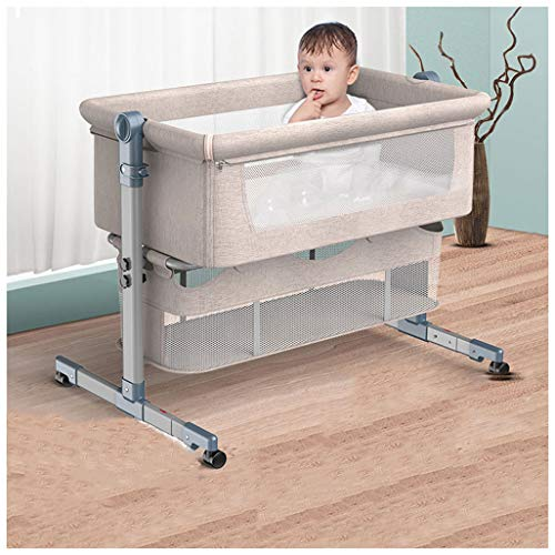 Best Review Of Baby Bedside Cot Co-Sleeping, Portable Bed Playpen, Comfortable Travel Crib with Matt...