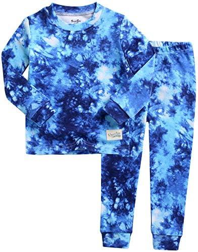 VAENAIT BABY Kids Junior 100 Cotton Sleepwear Pajamas 2pcs Set Tiedye Navy 242 L product image