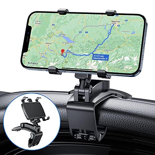 2021 Upgrade AINOYA Handyhalterung Auto mit stärkerer Klammer, 360°Drehbar Flexibel Silikon Schutz Smartphone Handy Halterung pkw Phone Mount Geeignet für 4 bis 7 Zoll Smartphones