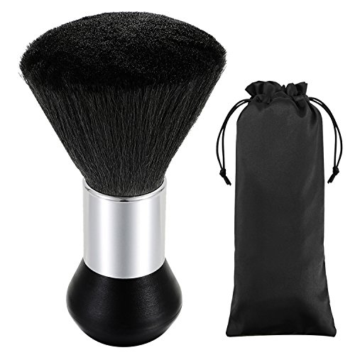 Vtrem Profesional Peluquero Cuello grande plumero Limpieza suave Cepillo de pelo Cepillo de barrido Herramienta de peinado del cabello Negro
