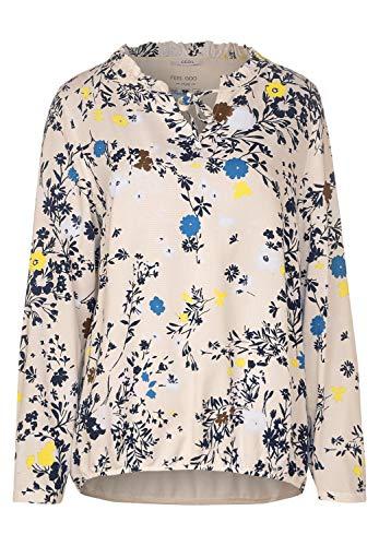 Cecil Damen Bluse mit Blumenmuster Alabaster beige XL