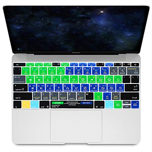 """HRH Serato DJ Hotkey Silicone Keyboard Cover Skin for MacBook New Pro 13"""" A1708 A1988 No Touch Bar 2018 2017 2016 Release and MacBook 12"""" A1534 (2015)&A1931(2018) USA Layout Protective Skin"""