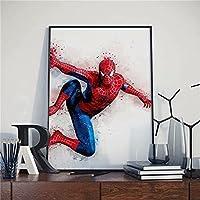 マーベルスーパーヒーローアベンジャーズスパイダーマンポスターストリートアートピクチャーアートパネル室内装飾絵画装飾絵画アートパネル絵画現代絵画エントランス装飾現代アートキャンバス絵画壁掛け部屋の装飾(50 * 70CM)