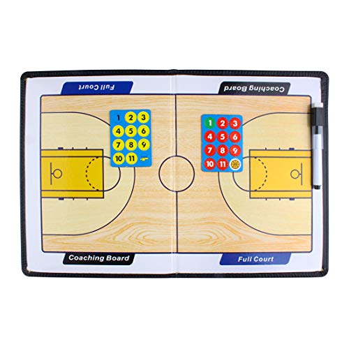 Andux Zone Basketball/Fußball Coaches Taktiktafel Coach Board mit Stifte Radiergummi Magneten ZUB-01 (Basketball Taktikboards)