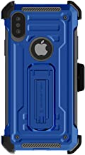 Ghostek Dual Layer Rugged Iron Case with Screen Protector Designed for iPhone X/XS –Blue