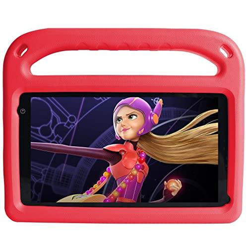 Tablet per Bambini 7 Pollici Android 11 con 32 GB ROM, 2 GB RAM, WiFi, Bluetooth, Controllo Genitori, Play Store Installato, Doppia Fotocamera, Espansione MicroSD, con Custodia (Rosso)