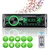 Autoradio Bluetooth Mains Libres, 4x60W Radio Voiture Support FM/USB/MP3/WMA/TF/AUX...