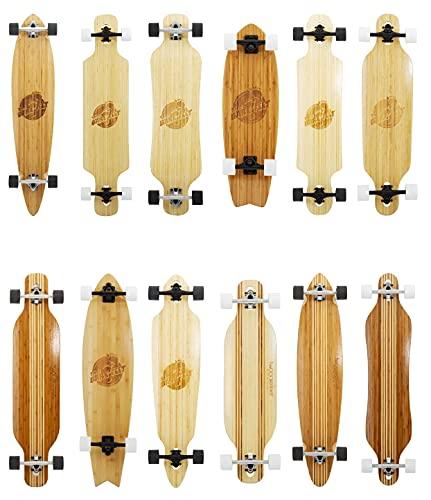 Two Bare Feet The Brock 42in Bamboo Series Premium Pro Longboard Skateboard Complete